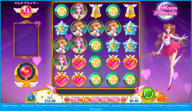 ムーンプリンセスのゲーム画面
