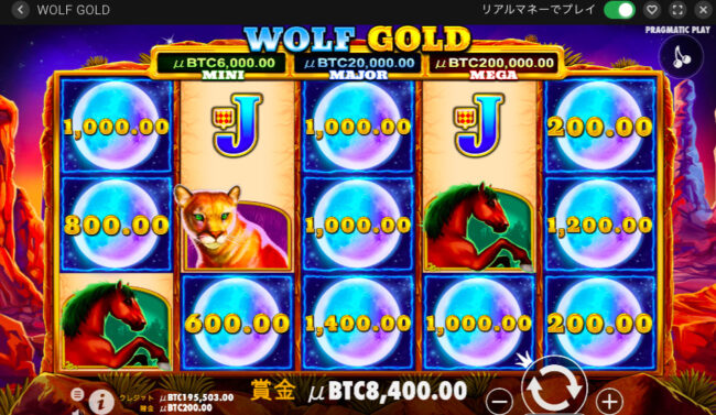wolf goldのマネーリスピン