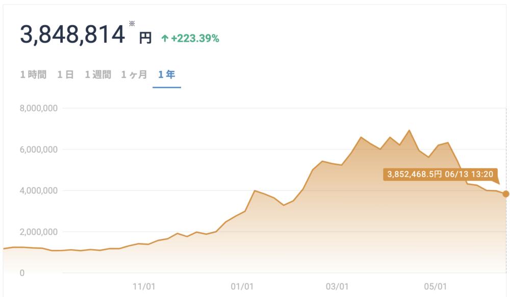 ビットコインの価格変動